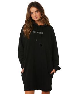 BLACK WOMENS CLOTHING HUFFER DRESSES - WDR92S003344BLK