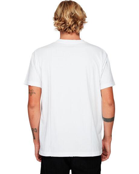 WHITE MENS CLOTHING RVCA TEES - RV-R192054-WHT