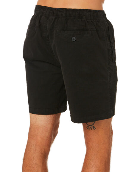WASHED BLACK MENS CLOTHING DEPACTUS SHORTS - D5211230WSHBK