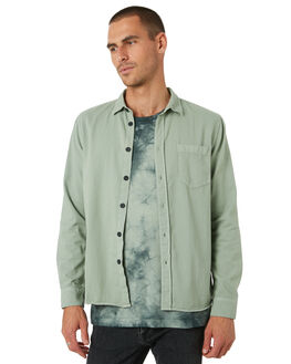 PALE GREEN MENS CLOTHING NUDIE JEANS CO SHIRTS - 140501G41