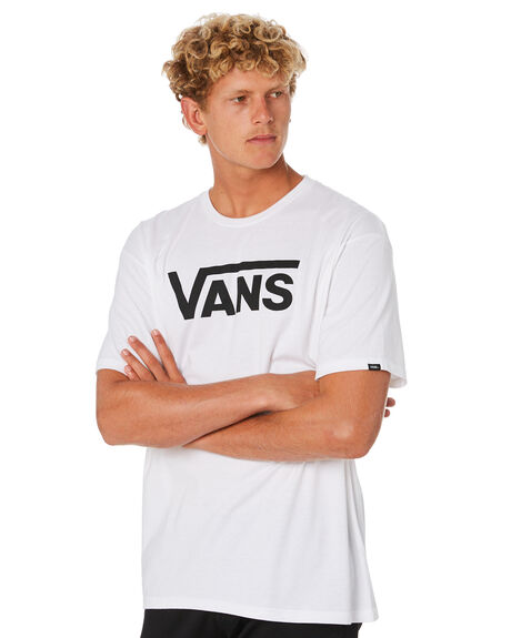 WHITE BLACK MENS CLOTHING VANS TEES - VN-0GGGYB2