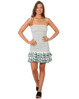 WHITE WOMENS CLOTHING TIGERLILY DRESSES - T392461WHT