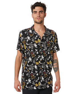 BLACK MENS CLOTHING THE CRITICAL SLIDE SOCIETY SHIRTS - SS1872BLK