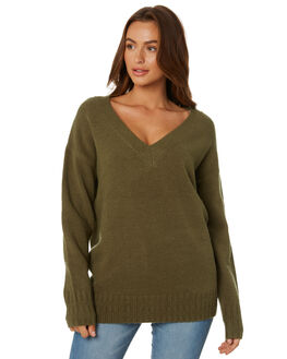 FADED OLIVE WOMENS CLOTHING RUSTY KNITS + CARDIGANS - CKL0334FDOLV