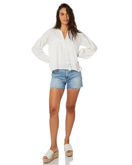 WHITE WOMENS CLOTHING SAINT HELENA FASHION TOPS - SHSP19310AWHT
