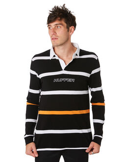 BLACK ORANGE MENS CLOTHING HUFFER SHIRTS - MSH93S4502BLKOR