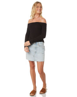 BLACK WOMENS CLOTHING ALL ABOUT EVE FASHION TOPS - 6403085BLK