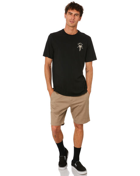 BLACK OUTLET MENS SWELL TEES - S5212001BLACK