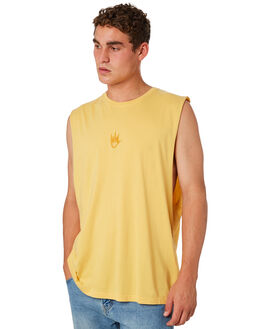 MELLOW MENS CLOTHING AFENDS SINGLETS - M184083MELOW