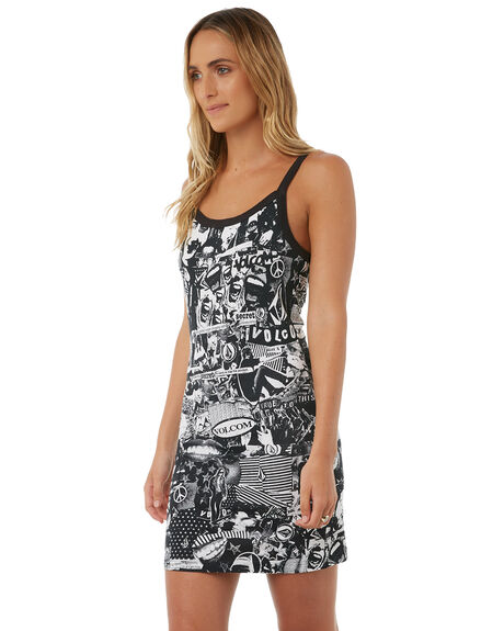 BLACK WOMENS CLOTHING VOLCOM DRESSES - B1311820BLK