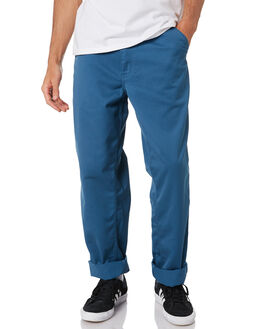 PRUSSIAN BLUE MENS CLOTHING CARHARTT PANTS - I020075-05IPRBLU