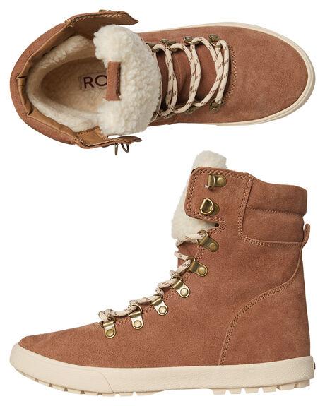 BROWN WOMENS FOOTWEAR ROXY BOOTS - ARJB700556BRN