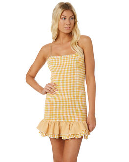 YELLOW WOMENS CLOTHING MINKPINK DRESSES - MP1806559YEL