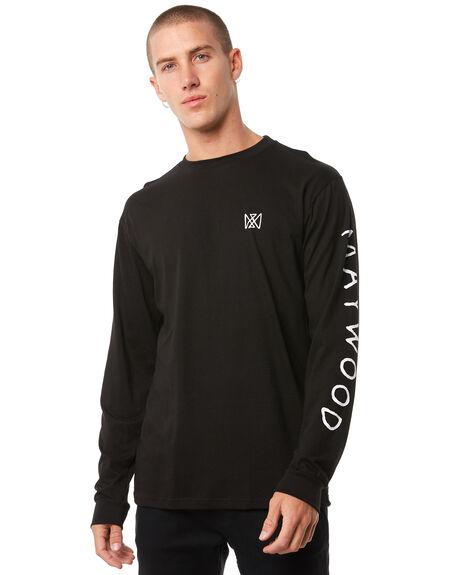 BLACK MENS CLOTHING MAYWOOD TEES - MTZ709BLACK