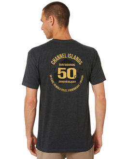 CHARCOAL HEATHER MENS CLOTHING CHANNEL ISLANDS TEES - 21645100061CHARC