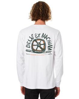 WHITE MENS CLOTHING DEUS EX MACHINA TEES - DMW81223BWHT