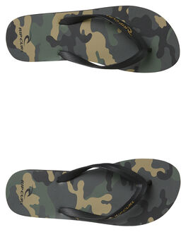 MILITARY GREEN MENS FOOTWEAR RIP CURL THONGS - TCTA620854