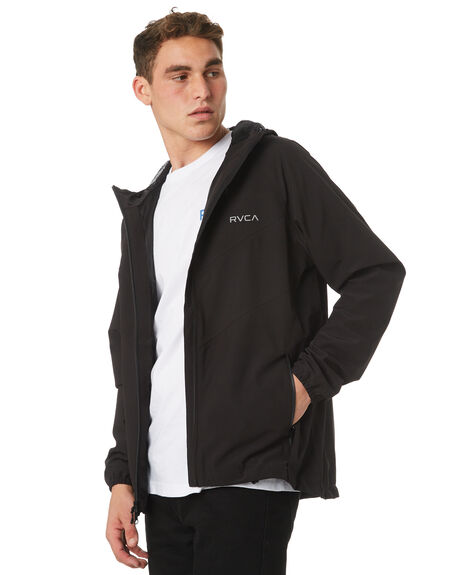 BLACK MENS CLOTHING RVCA JACKETS - R183438BLK