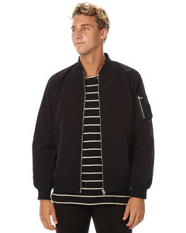 BLACK MENS CLOTHING ASSEMBLY JACKETS - AM-S1783BLK