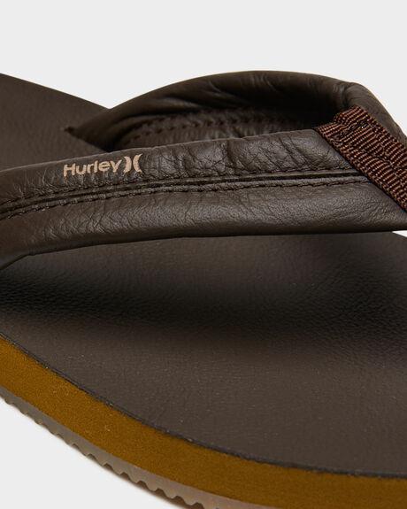 BROWN MENS FOOTWEAR HURLEY THONGS - AR4006237