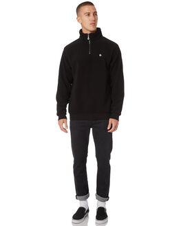 BLACK MENS CLOTHING AFENDS JUMPERS - M191503BLK