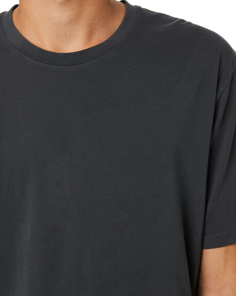 WASHED BLACK MENS CLOTHING RIP CURL TEES - CTEMA98264