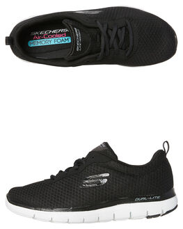 BLACK WOMENS FOOTWEAR SKECHERS SNEAKERS - 12775BLK