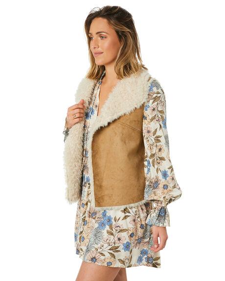 CARAMEL WOMENS CLOTHING LILYA JACKETS - SHV02-LAW20CARM