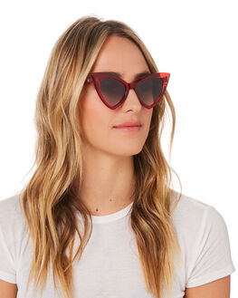 TRANSPARENT RED WOMENS ACCESSORIES VALLEY SUNGLASSES - S0480TRED