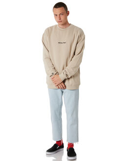 DUSTY WARM GREY MENS CLOTHING STUSSY JUMPERS - ST086206DWGRY