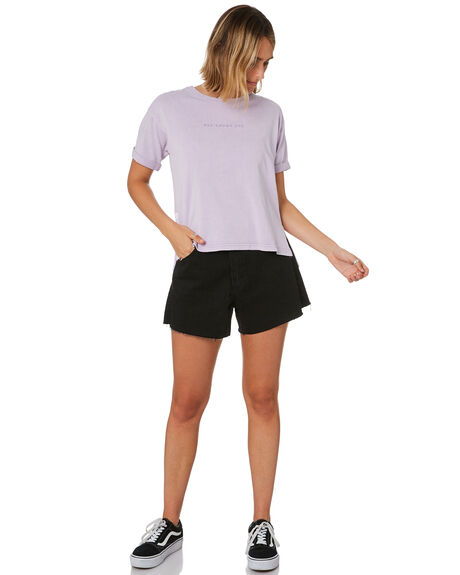 PURPLE WOMENS CLOTHING ALL ABOUT EVE TEES - 6446012PURP