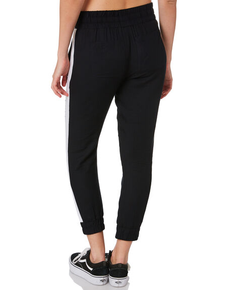 BLACK WOMENS CLOTHING HURLEY PANTS - CK0907010