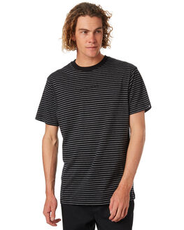 BLACK MENS CLOTHING ZOO YORK TEES - ZT-MTA8140BLK