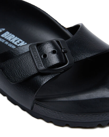 BLACK WOMENS FOOTWEAR BIRKENSTOCK FASHION SANDALS - 128163BLK