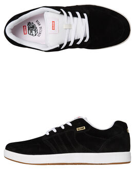 BLACK WHITE MENS FOOTWEAR GLOBE SNEAKERS - GBOCTAVE-20358