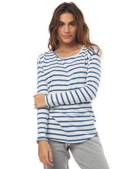 NAVY WHITE WOMENS CLOTHING O'NEILL TEES - 37211025114