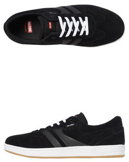 BLACK WHITE MENS FOOTWEAR GLOBE SKATE SHOES - GBEMPIRE-10046