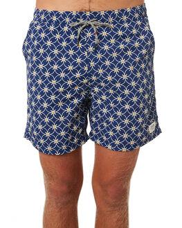 SPANISH BLUE MENS CLOTHING KATIN BOARDSHORTS - TRPLA03SPBLU