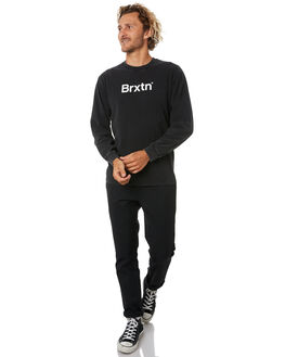 BLACK MENS CLOTHING BRIXTON TEES - 02770BLK