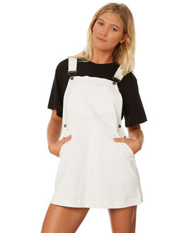 WHITE WOMENS CLOTHING RPM PLAYSUITS + OVERALLS - 8SWD06BWHT