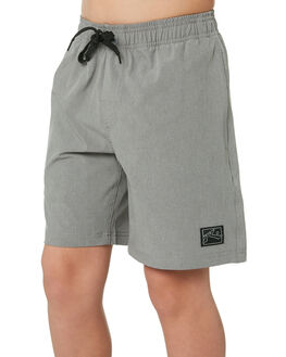 STONE GREY KIDS BOYS RUSTY BOARDSHORTS - BSB0323SOG