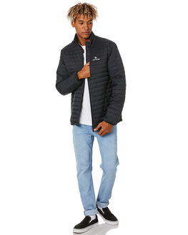 BLACK MENS CLOTHING RIP CURL JACKETS - CJKEO10090