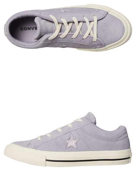 PROVENCE PURPLE KIDS GIRLS CONVERSE SNEAKERS - 362193PUR