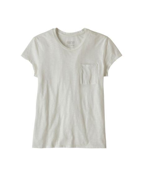 WHITE WOMENS CLOTHING PATAGONIA TEES - 52981-WHI-XS