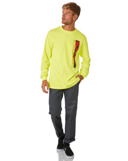 NEON GREEN MENS CLOTHING SURF IS DEAD TEES - SD18P6-08NEON