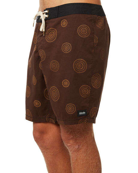 COFFEE MENS CLOTHING AFENDS BOARDSHORTS - M184301COF