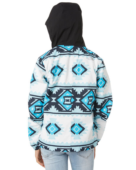 WHITE TRIBAL GEO KIDS GIRLS THE NORTH FACE JUMPERS + JACKETS - NF0A3NHSFW9WTTRB