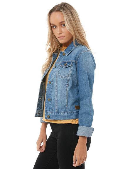 LIGHT BLUE WOMENS CLOTHING ROXY JACKETS - ERJJK03226BFN0