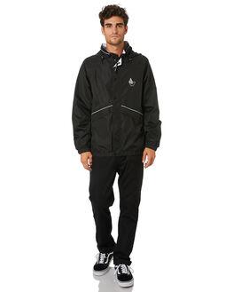 BLACK MENS CLOTHING VOLCOM JACKETS - A1512014BLK
