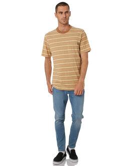 GOLD TAN STRIPE MENS CLOTHING WRANGLER TEES - 901751NF4